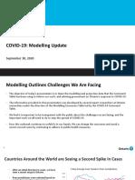 Ontario COVID-19 Modelling - September 30, 2020