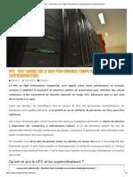 HPC _ tout savoir sur le High Performance Computing