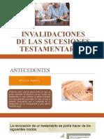 INVALIDACIIONES DE LAS SUCESIONES TESTAMENTARIAS