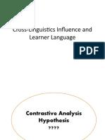 Cross-Linguistics Influence and Learner Language