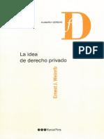 Weinrib La Idea de Derecho Privado (fragmento)