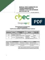Manual suminstro de transformadores de tensión - CHEC