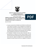 Document 1 - Initial Report by Minister of Defence on Zimbabwe Flight