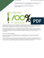 Programa alimentar para escolas portuguesas)