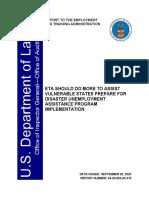 Informe Oficina Del Inspector General Del Departamento Del Trabajo