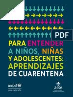 Para Entender a Niños Niñas y Adolescentes.  UNICEF Uruguay