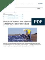 Guia passo a passo para instalar um kit de autoconsumo solar fotovoltaico