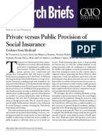 Private versus Public Provision of Social Insurance