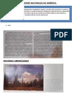 CONDICIONES NATURALES DE AMÉRICA