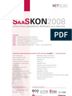 SaaSKon2008 PDF Broschüre - SaaS Kongress am 11./12. November 2008 in Stuttgart