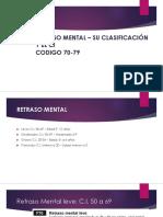 RETRASO MENTAL – SU CLASIFICACIÓN Y EL CI