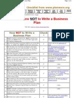 biz plan checklist