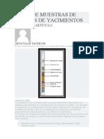 TOMA DE MUESTRAS DE FLUIDOS DE YACIMIENTOS