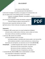 Sermão 1Co 12.12-26