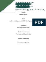 Actividad Analisis de Derecho agrario, lic. sergio limas lopez,alumna flor amairani salazar medina,septimo lic. en derecho