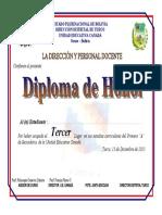 Diploma de Honor Tio 2