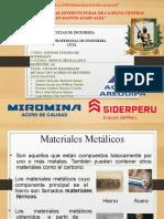 Materiales metalicos y acero reforzado