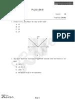 Practice Drill Advance Math -1
