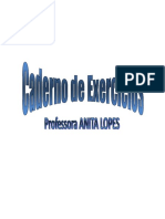 CADERNO DE EXERCÍCIOS C++