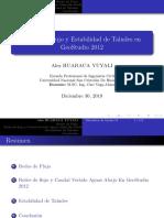 Redes de Flujo y Estabilidad de Taludes Geostudio2012