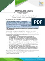 Guia de actividades y Rubrica de evaluacion - unidad 1 - tarea 2 - Construir una matriz analítica de articulos cientificos.pdf