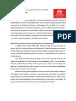 Dependencia financiera a la cooperación internacional de las ONG