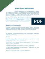 Hecho administrativo y Acto administrativo