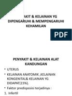 Penyakit & Kelainan Yg Mempengaruhi Kehamilan