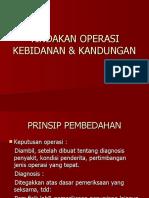 Tindakan Operasi Kebidanan & Kandungan