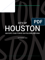 City of Houston Mayor's Task Force on Policing Reform