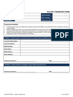 Salary Transfer Form