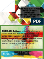 4. ARTA 111- ART AND ARTISAN, PRODUCTION PROCESS, MEDIUM, TECHNIQUE, CURATION, UNITAS