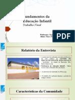 Trabalho Final - Fundamentos da Educação Infantil