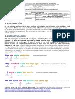 guia 4 ciclo 5 affirmative sentences in simple past tense