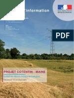 ligne THT Cotentin-Maine - le projet - déclaration d'utilité publique octobre 2010