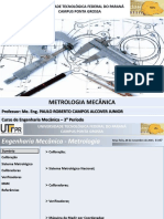 Aula 08 - Metrologia Mecanica