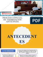 GRUPO 5- PROCESO ESPECIAL TERMINACIÓN ANTICIPADA