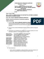 ACTA No. 2 DÍA 14 DE AGOSTO GRADO 802 ESP. CARLOS HERNANDO MENDOZA ARANZALEZ