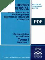 Derecho Comercial (Tomo I.Volumen 1) - Ricardo Sandoval L