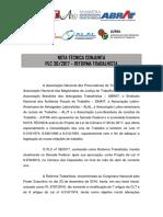 ANPT - Nota Técnica Conjunta - Reforma Trabalhista.pdf
