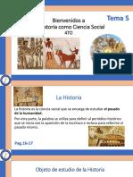 La Historia como ciencia social (temas 5,6,7)