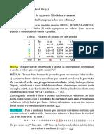 Aula - Medidas Resumo (dados agrupados)
