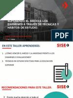 Clase N°4 - SUPERANDO EL MIEDO A LOS EXÁMENES A TRAVÉS DE TÉCNICAS DE ESTUDIO - copia.pptx