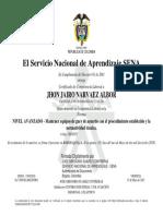 Certificado Sena Jhon Narvaez (2)