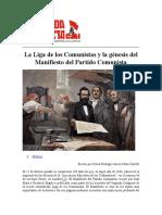 La Liga de los Comunistas y la génesis del Manifiesto del Partido Comunista