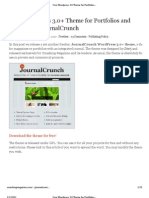 Free Wordpress 3.0 Theme for Portfolios and Magazines_ JournalCrunch - Smashing Magazine