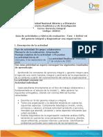 Guía de actividades y rúbrica de evaluación – Fase  1 Definir rol del gerente integral y diagnosticar una organización