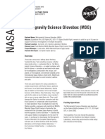 NASA Facts Micro Gravity Science Glovebox (MSG)