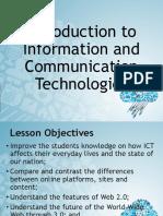 Lesson1 - Intro to ICT