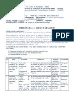 AGENDA DE TRABAJO SEXTA SEMANA  E. F.
